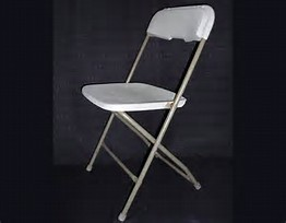 white fiberglass folding chair